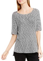 Vince Camuto Two by VINCE CAMTUO Metallic Marled Tee