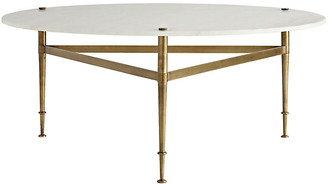 Arteriors Brittney Coffee Table - White Marble