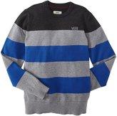 Vans Sylmar Sweater (Kid) - Concrete/Blue-Small
