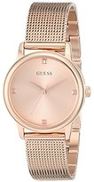 GUESS Women's U0532L3 Diamond-Accented Rose Gold-Tone Watch with Mesh Bracelet