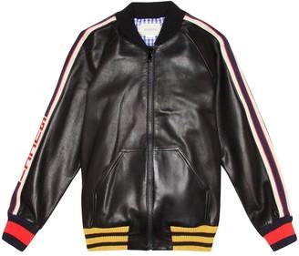 Gucci Kids Leather jacket