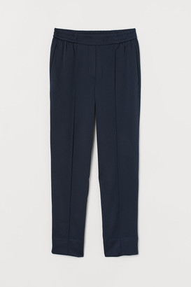 H&M Joggers with Creases - Blue