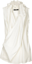 ALLDRESSEDUP Asymmetric sleeveless blouse