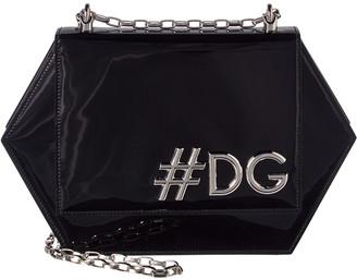 Dolce & Gabbana Girls Hexagonal Patent Shoulder Bag