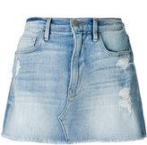 Frame distressed denim skirt - women - Cotton/Spandex/Elastane/polyester - 26