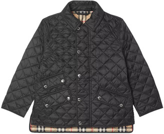 Burberry Kids Quilted Jacket Black