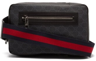Gucci GG Supreme Leather Cross-body Bag - Black