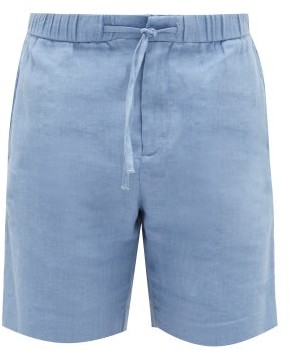 Frescobol Carioca Sport Linen-blend Shorts - Blue