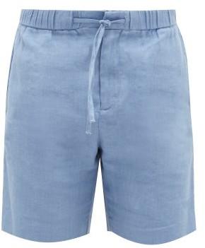Frescobol Carioca Sport Linen-blend Shorts - Mens - Blue