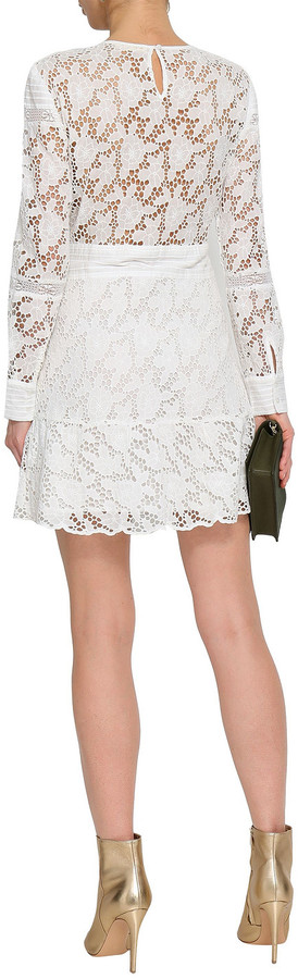 Thumbnail for your product : BA&SH Aphrodite Broderie Anglaise Cotton Mini Dress