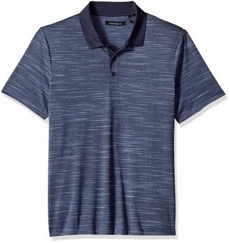 Axist Men's Short Sleeve Polyester Mixed Media 3 Button Polo