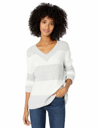 Goodthreads Mid-gauge Stretch V-neck Sweater Rainbow Stripe