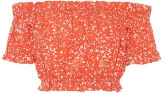 Ulla Johnson Ash printed cotton crop top