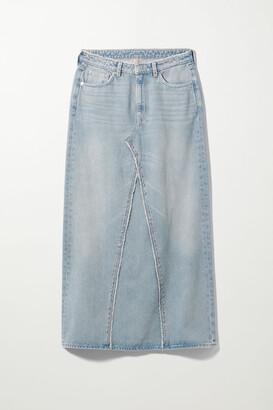 Weekday Chrysal Denim Maxi Skirt - Blue