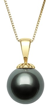 Bloomingdale's Tahitian Black Pearl Pendant Necklace in 18K Yellow Gold, 18 - 100% Exclusive