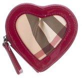 Burberry Nova Check Heart Coin Pouch