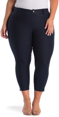 Hue Ankle Slit Crop Jeggings (Plus Size)