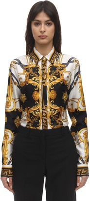 Versace Medusa Silk Twill Printed Shirt