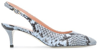 Pollini Snakeskin Print Low Heel Pumps