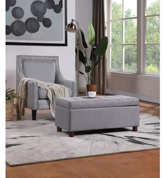 Merax Harper&Bright Designs Upholstered Large Storage Bench Linen Fabric Ottoman