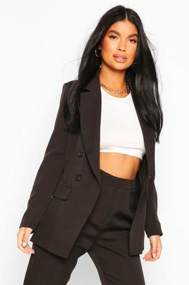 boohoo Petite Fitted Double Breasted Blazer
