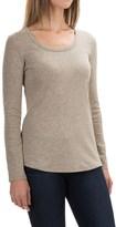 Cynthia Rowley Scoop Neck Shirt - Pima Cotton-Modal, Long Sleeve (For Women)