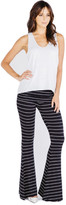 Saint Grace Moby Stripe Ashby Pants In Black White