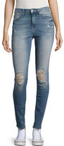 Mavi Jeans Five Pocket Ripped Skinny Jeans