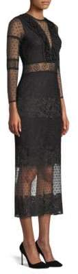 Alexis Elize Lace Mesh Sheath Dress