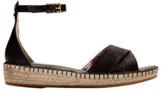 Cole Haan CloudFeel Lizard-Embossed Leather Espadrille Sandals