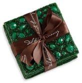 Aviva Stanoff Set of Four Emerald Green Jewel Coaster