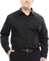 Van Heusen Sateen Stripe Button -Front Shirt- Big and Tall
