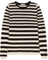 Bella Freud Skinny Minnie Striped Wool And Cashmere-blend Sweater - Black