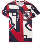 Moncler C Slim-Fit Appliquéd Printed Cotton-Jersey T-Shirt