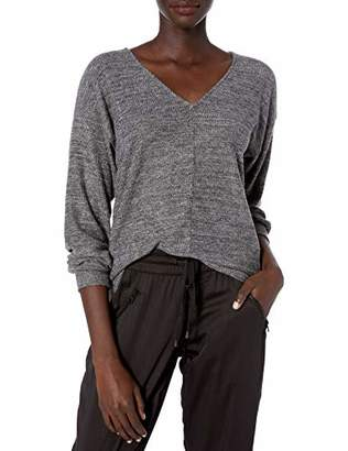 Lucky Brand Women's Ribbed V-Neck Cloud Jersey Top