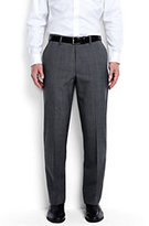 Classic Men's Comfort Waist Wool Year'rounder Dress Trousers Navy