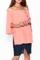 Do & Be Do-Be Coral Off Shoulder Top