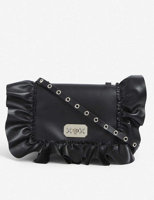 RED Valentino Audrey ruffle-trim leather cross-body bag
