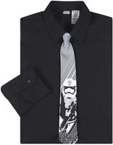 Star Wars Dress Shirt and Storm Trooper Tie Set - Preschool Boys 4-7