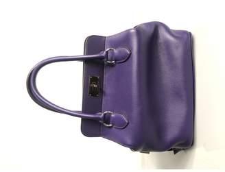 Hermes Toolbox Purple Leather Handbags