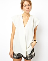 Asos Tunic with Plunge Neck and Origami Detail