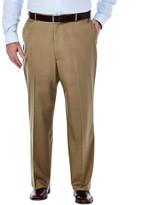 Haggar Big & Tall Premium No Iron Khaki - Classic Fit, Flat Front, Hidden Expandable Waistband