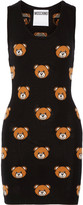 Moschino Bear-intarsia wool mini dress