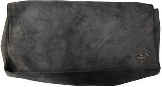 Prada Grey Suede Clutch bags