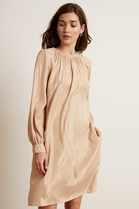 Velvet by Graham & Spencer Dasha Lame Long Sleeve Belted Dress