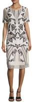 BCBGMAXAZRIA Grazia Embroidered Lace Sheath Dress