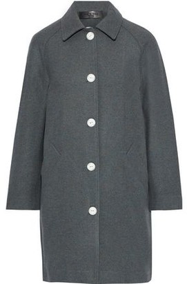 Rag & Bone Gemma Snap-detailed Marled Wool-blend Felt Coat