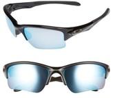 Oakley Women's Quarter Jacket Prizm(TM) 61Mm Polarized Semi-Rimless Sunglasses - Black/ Prizm H20 P