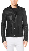 Michael Kors Pebbled-Leather Jacket
