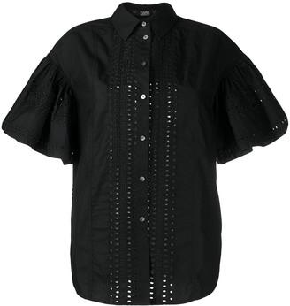 Karl Lagerfeld Paris Embroidered Poplin Shirt